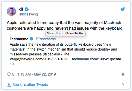 MacBook journalism failing at a faster rate than the butterfly