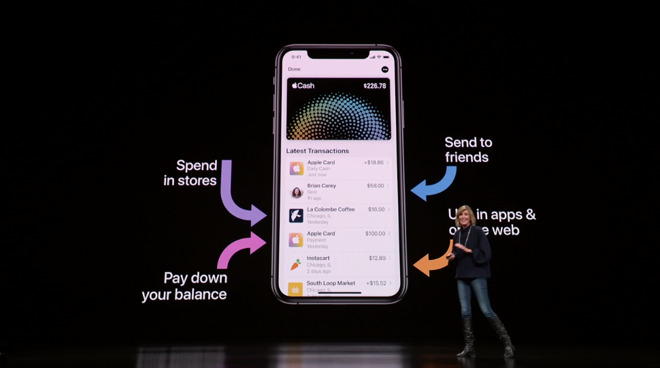 """Apple Card's """"Daily Cash"""" feature also promotes the use of Apple Pay Cash."""