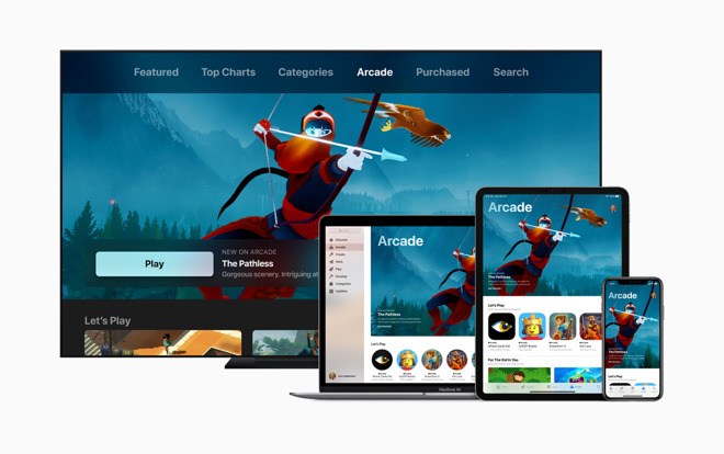 Apple Arcade is a gaming service bridging iOS, tvOS and macOS platforms.