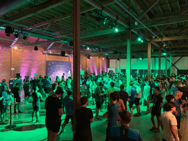 Hundreds of runners turned out this morning for the WWDC fun run