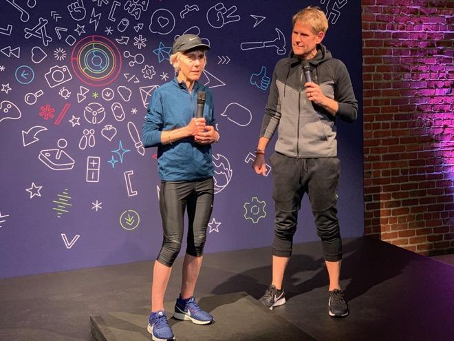 Apple's Jay Blahnik introduces marathon superstar Joan Benoit Samuelson