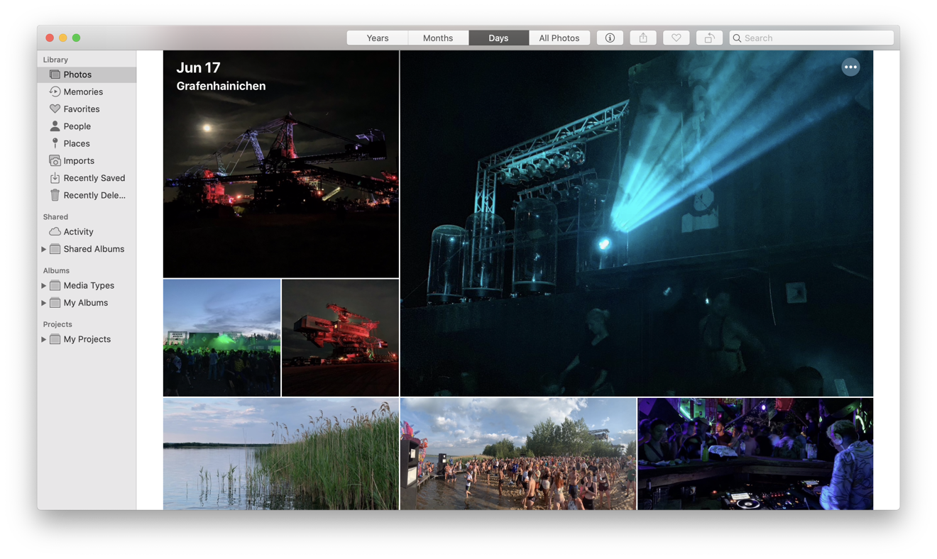 Click on the ellipsis button, and Photos will offer to create a Memory Movie for you
