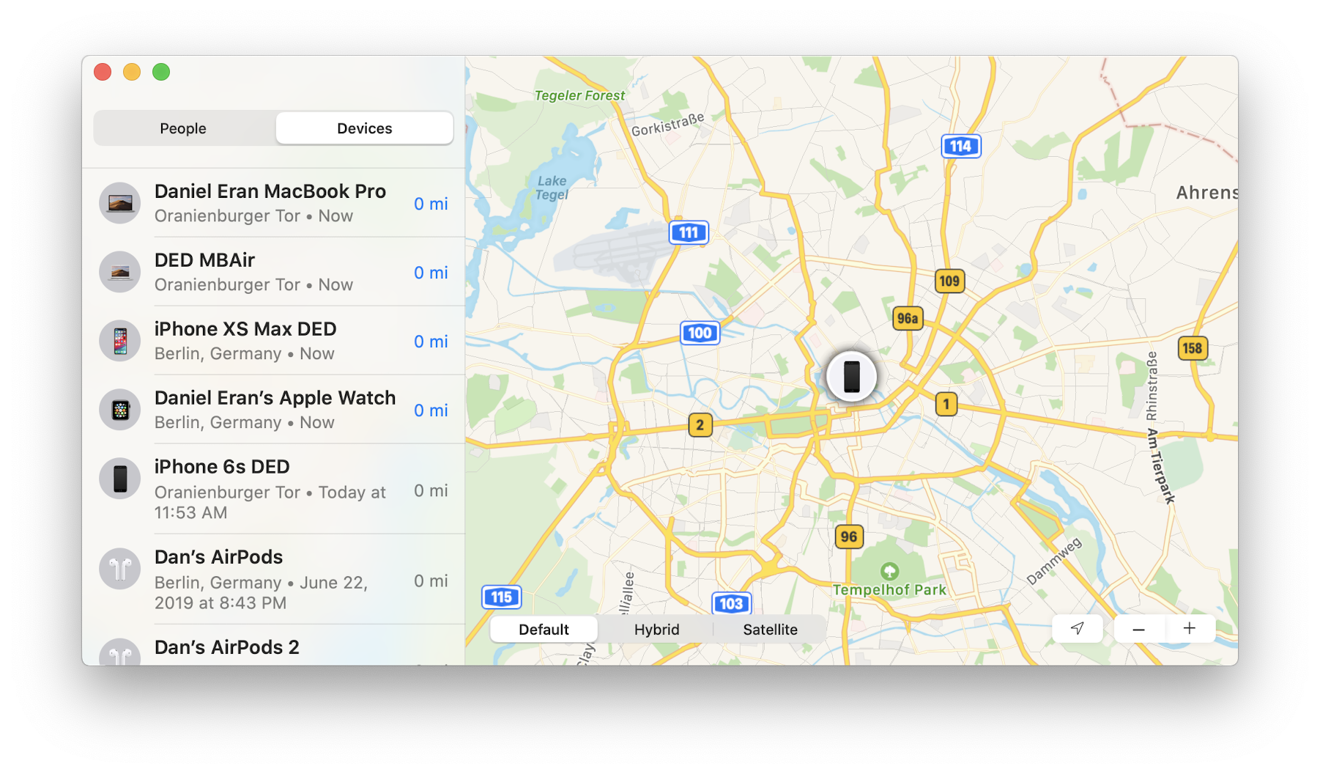Find My brings features to the Mac that were once stuck on the web, or not available at all