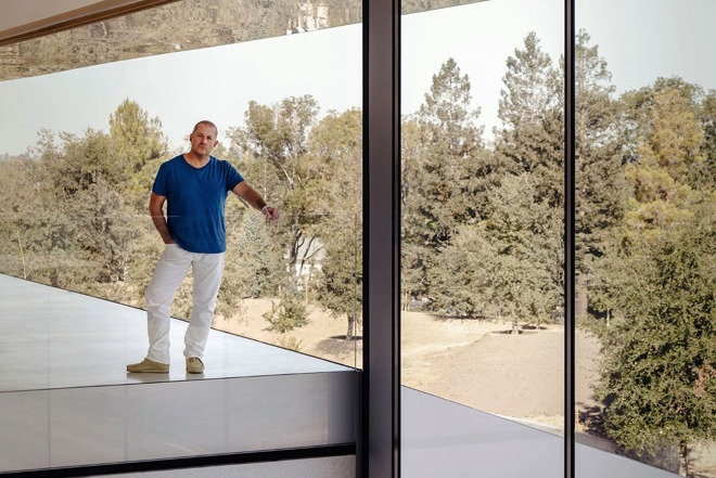 Jony Ive at his biggest design project: Apple Park. Source: Wallpaper