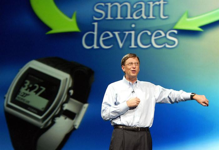 In 2003 at Peak Microsoft, Bill Gates showed off the forgettable SPOT watch at CES