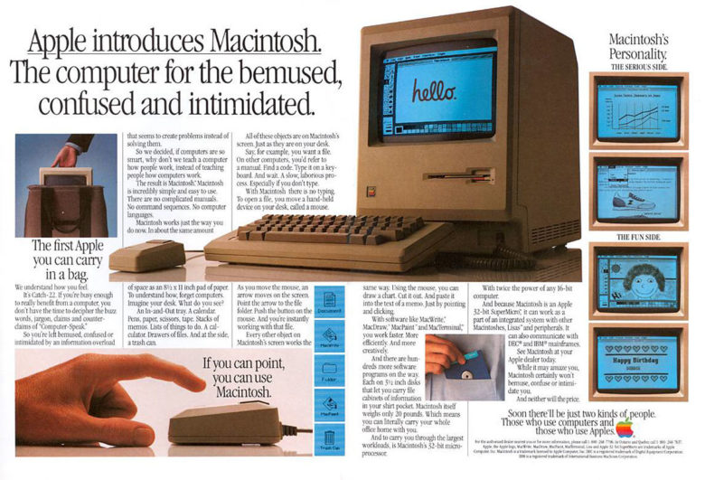 Macintosh ambitiously redefined computing in the 1980s