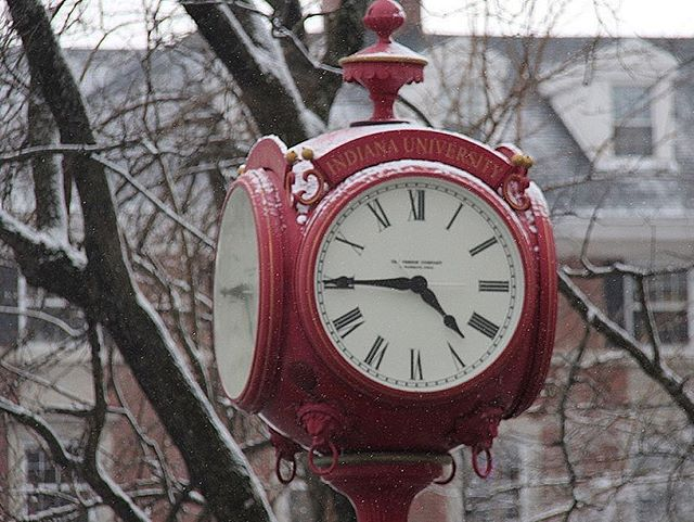 Snow may be a pain but this clock is looking amazing.