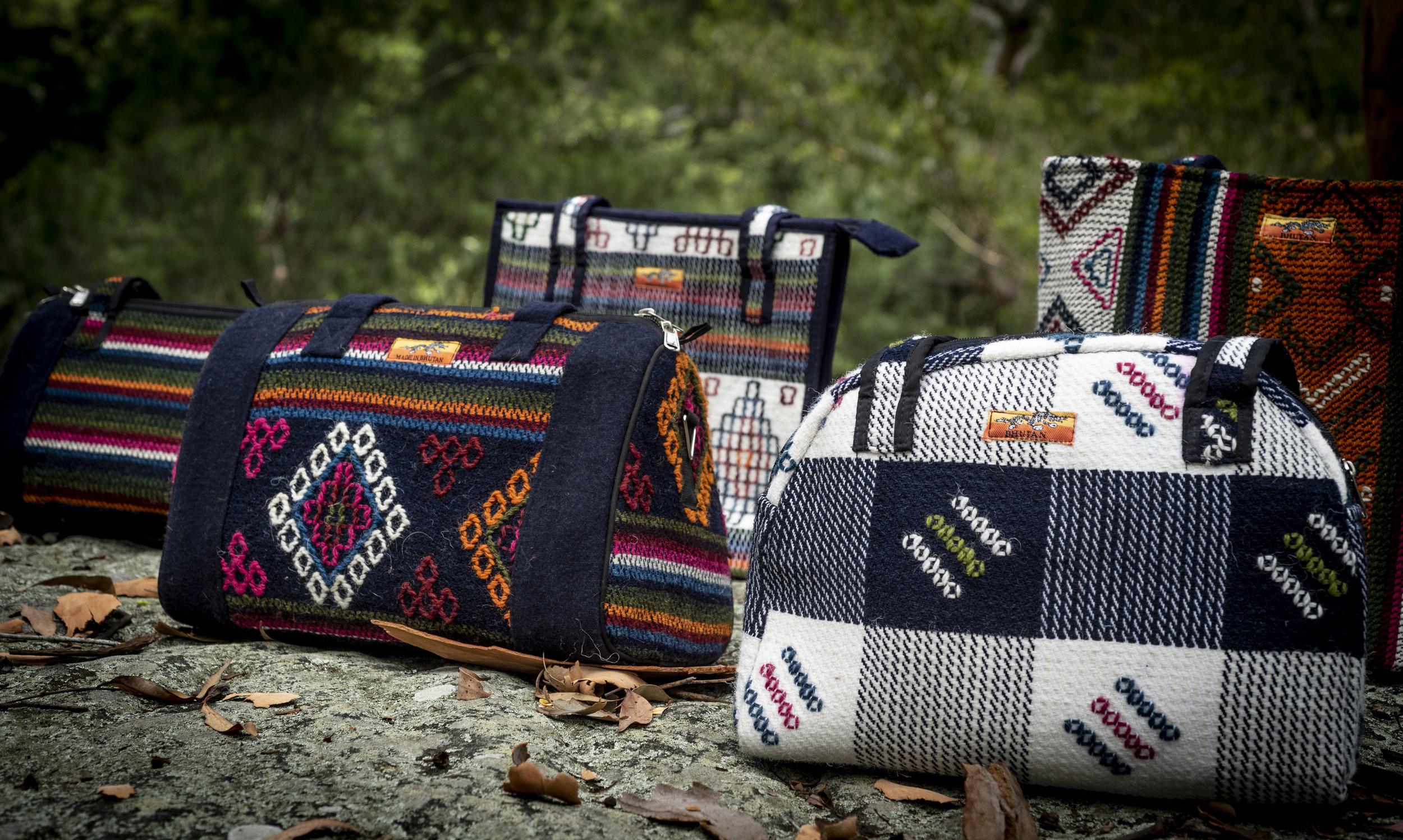 Bhutanese bag collection