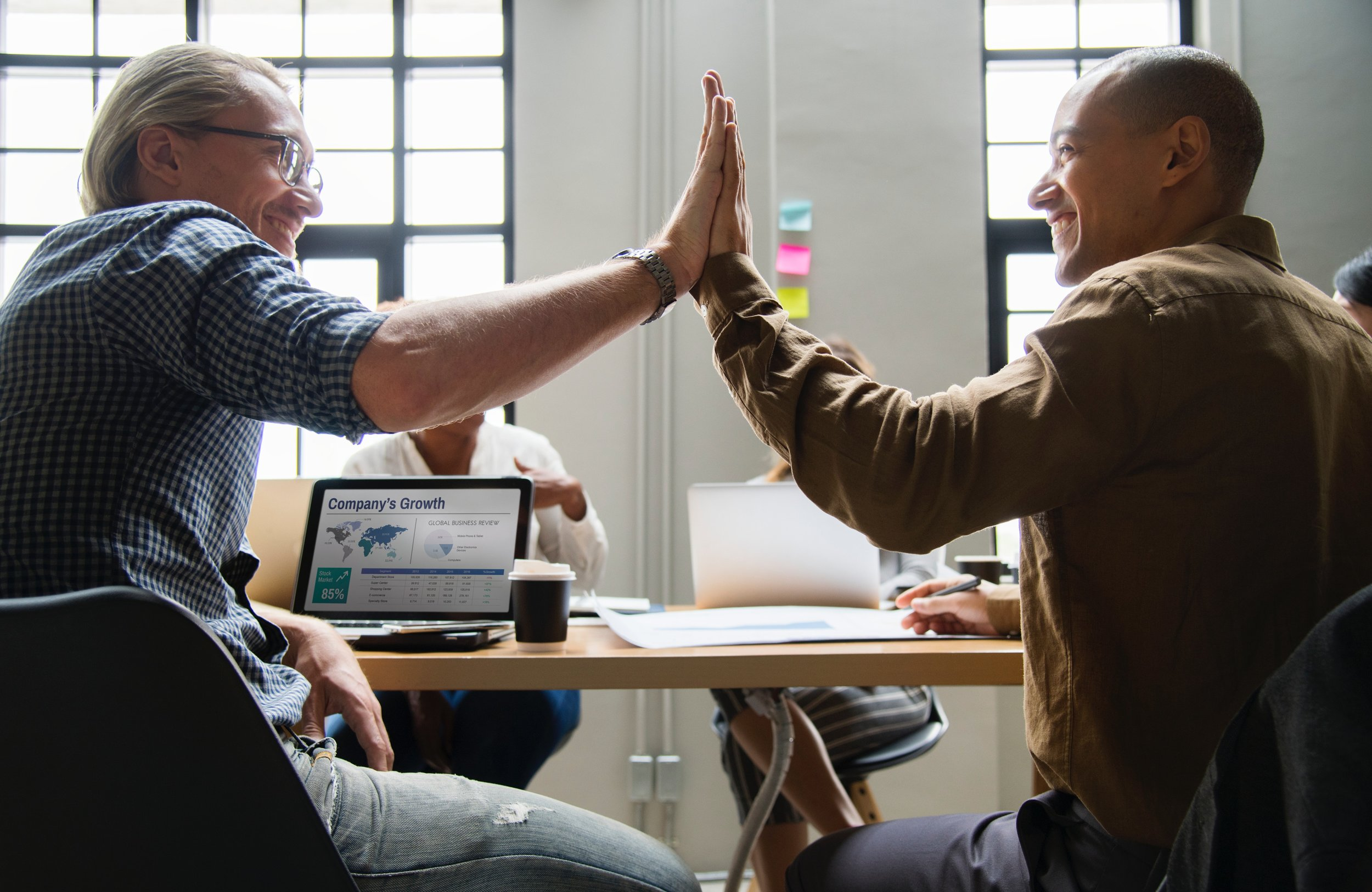 Happy employees are more engaged for their company.