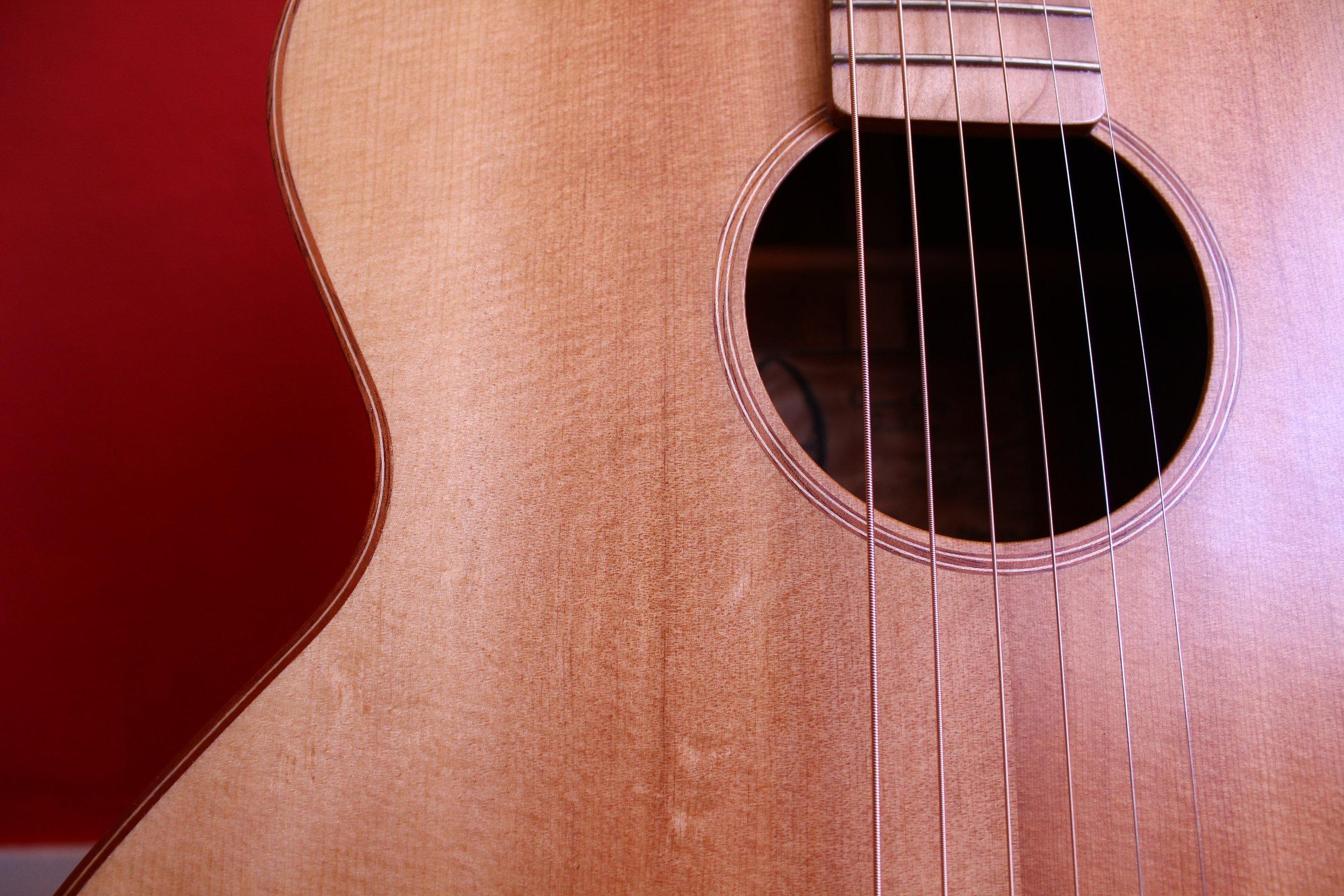 guitar binding and rosette