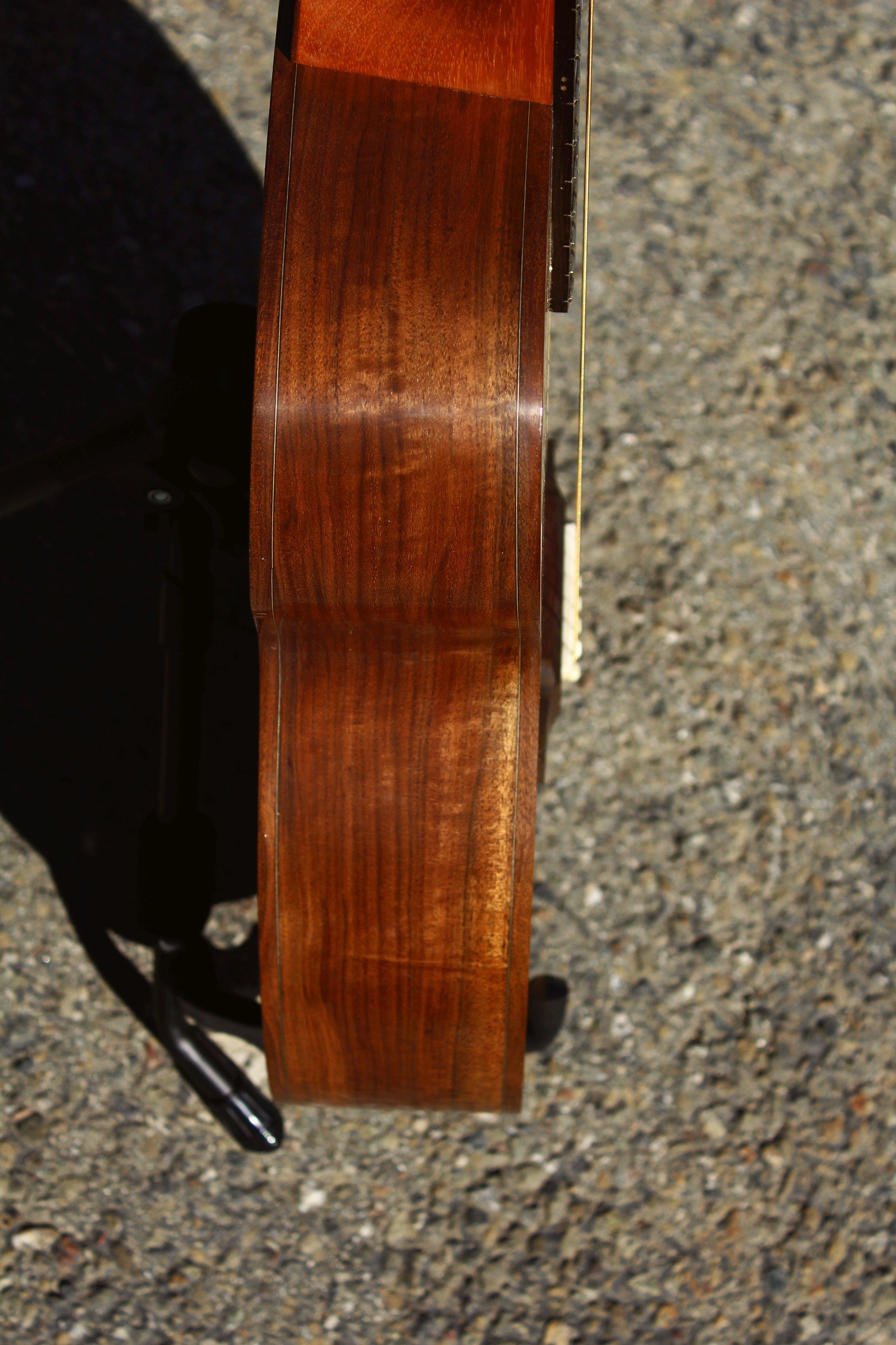 walnut acoustic guitar