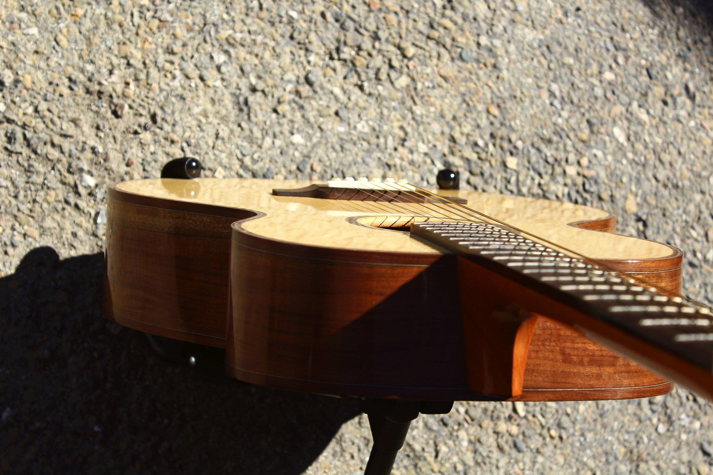 walnut and englemann spruce guitar
