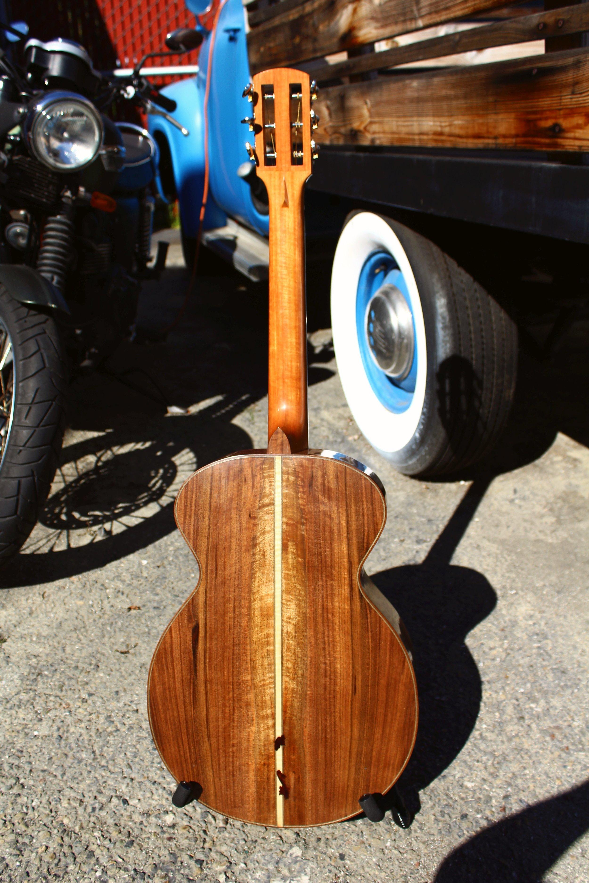 walnut guitar back