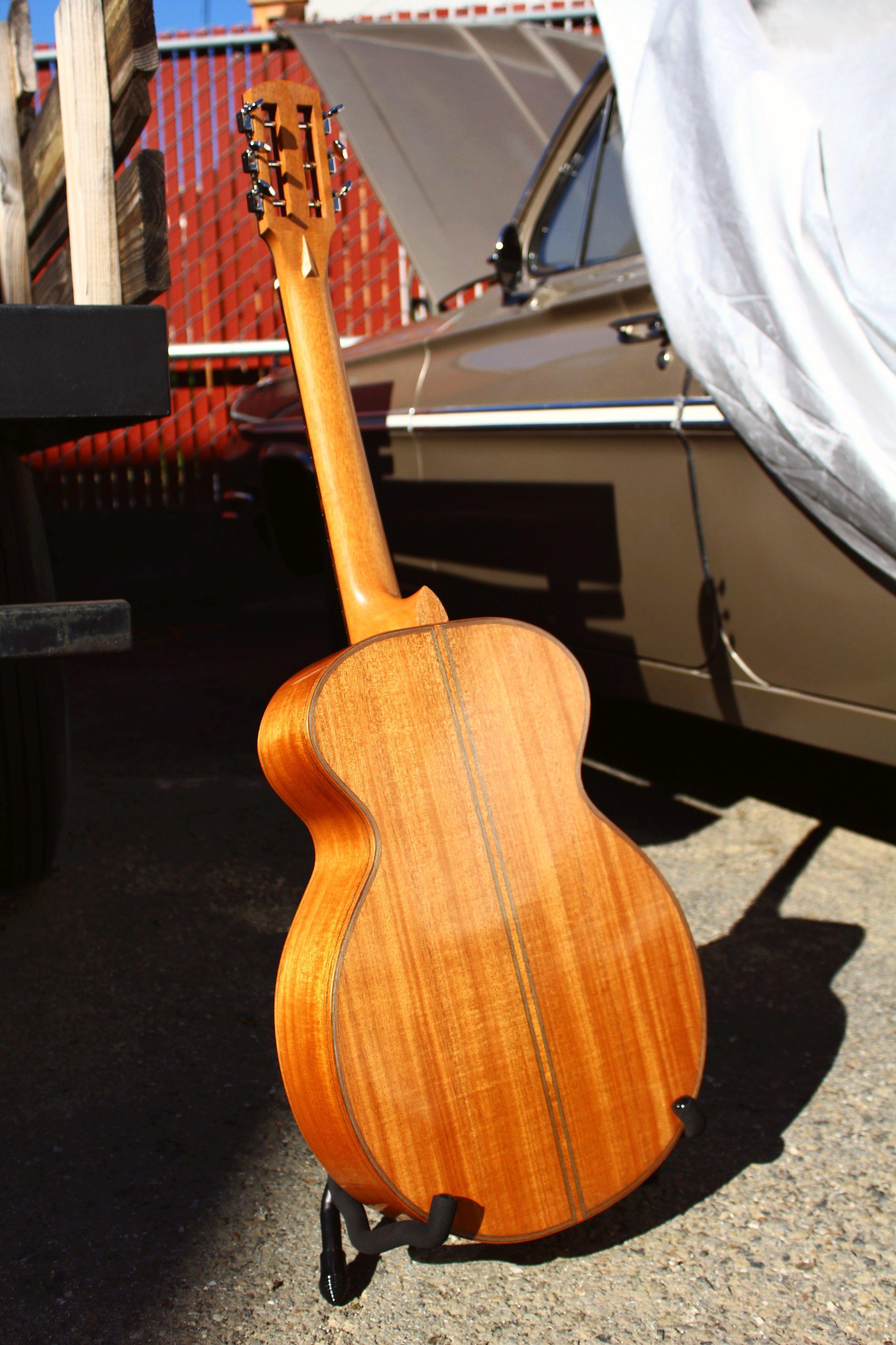 Honduran mahogany guitar