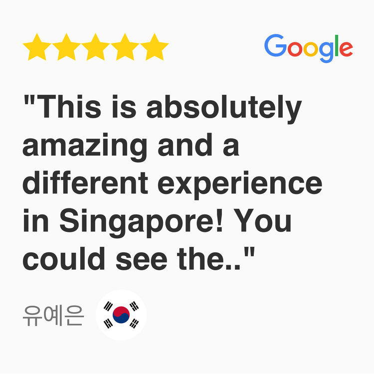 5 star Google Review for kayak fishing fever tour Singapore, This is absolutely amazing and a different experience in Singapore! You could see the stunning view of Marina Bay sands