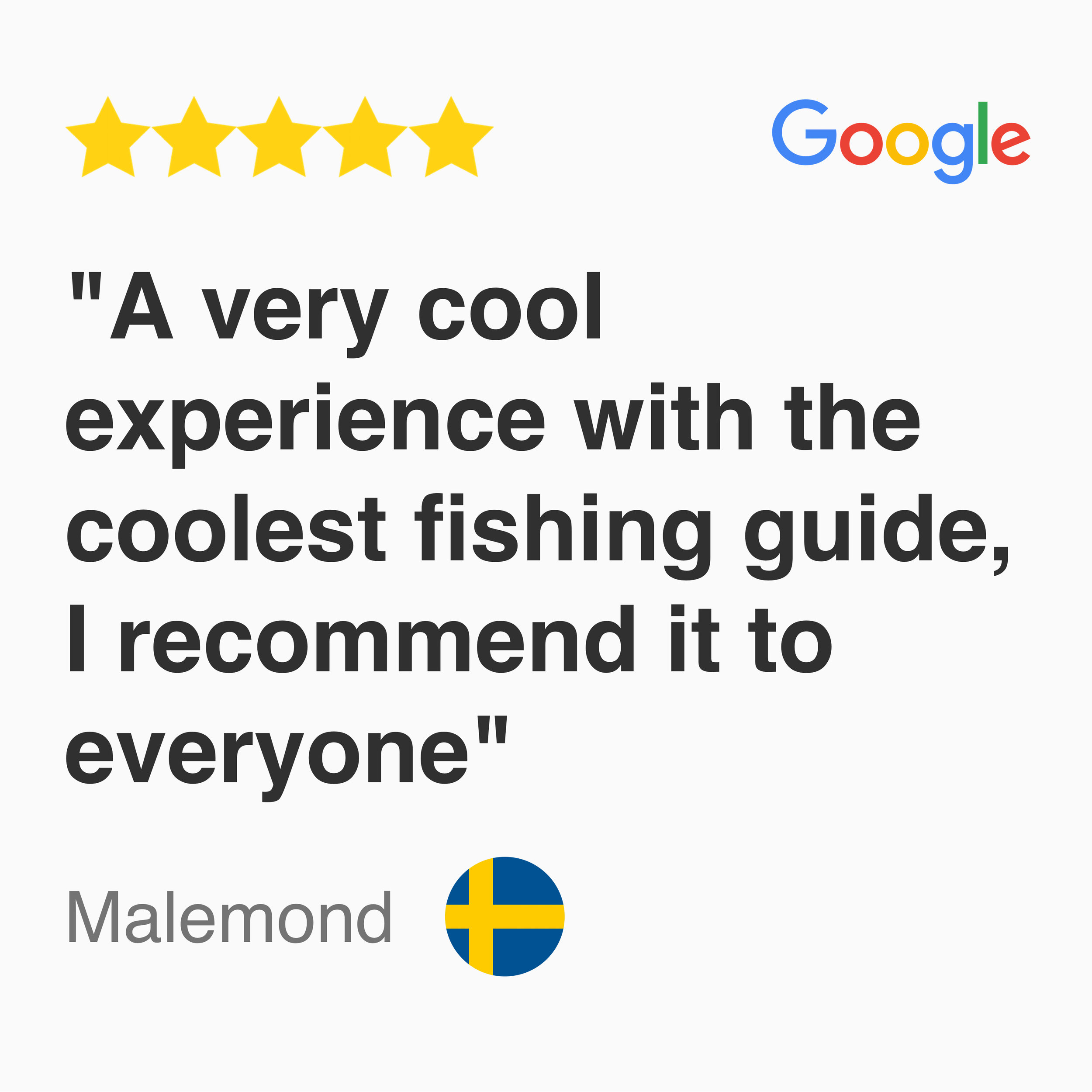 5 star Google Review for kayak fishing fever tour Singapore, A very cool experience with the coolest fishing guide, I recommend it to everyone.