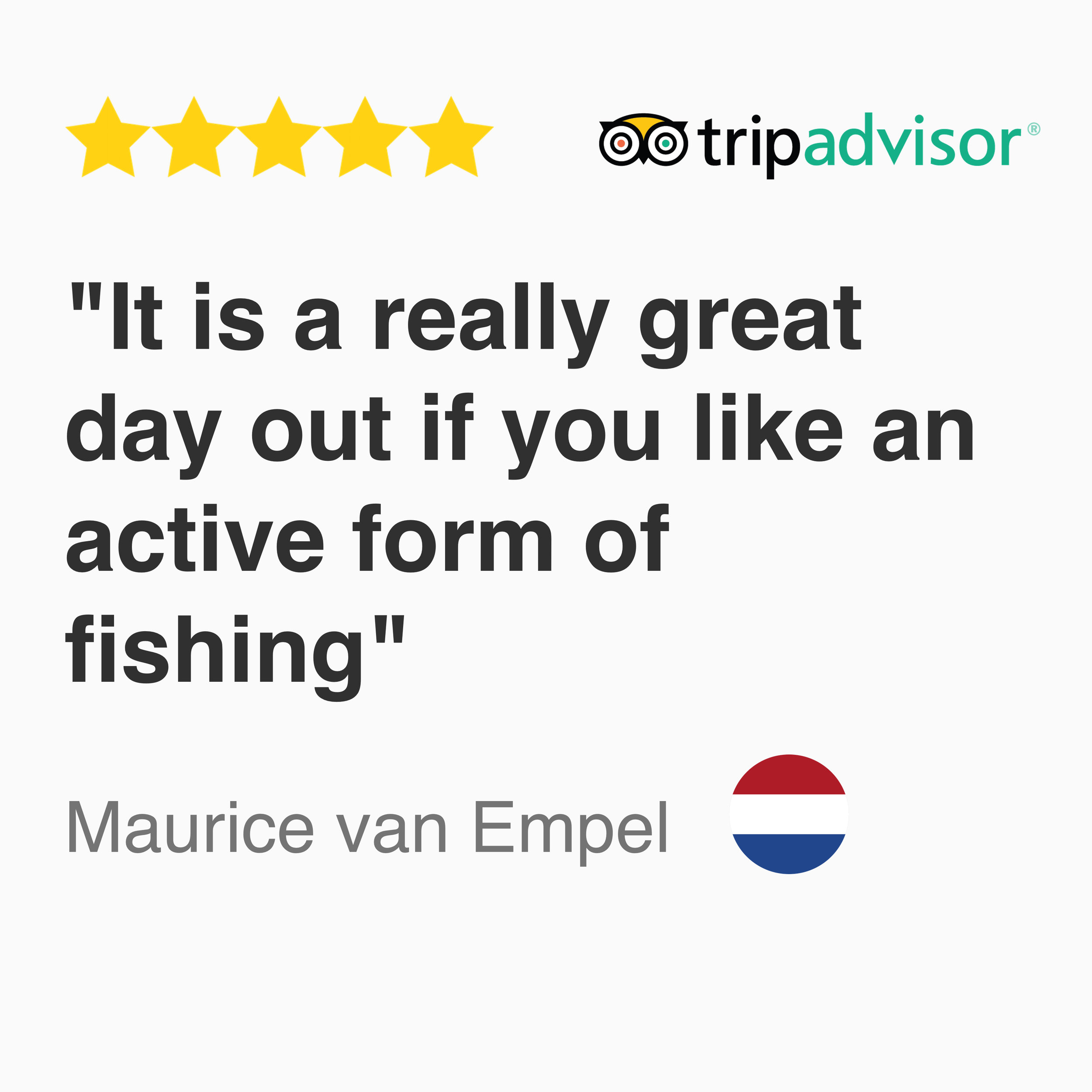 5 Star Trip advisor review for Kayak Fishing fever Singapore tour