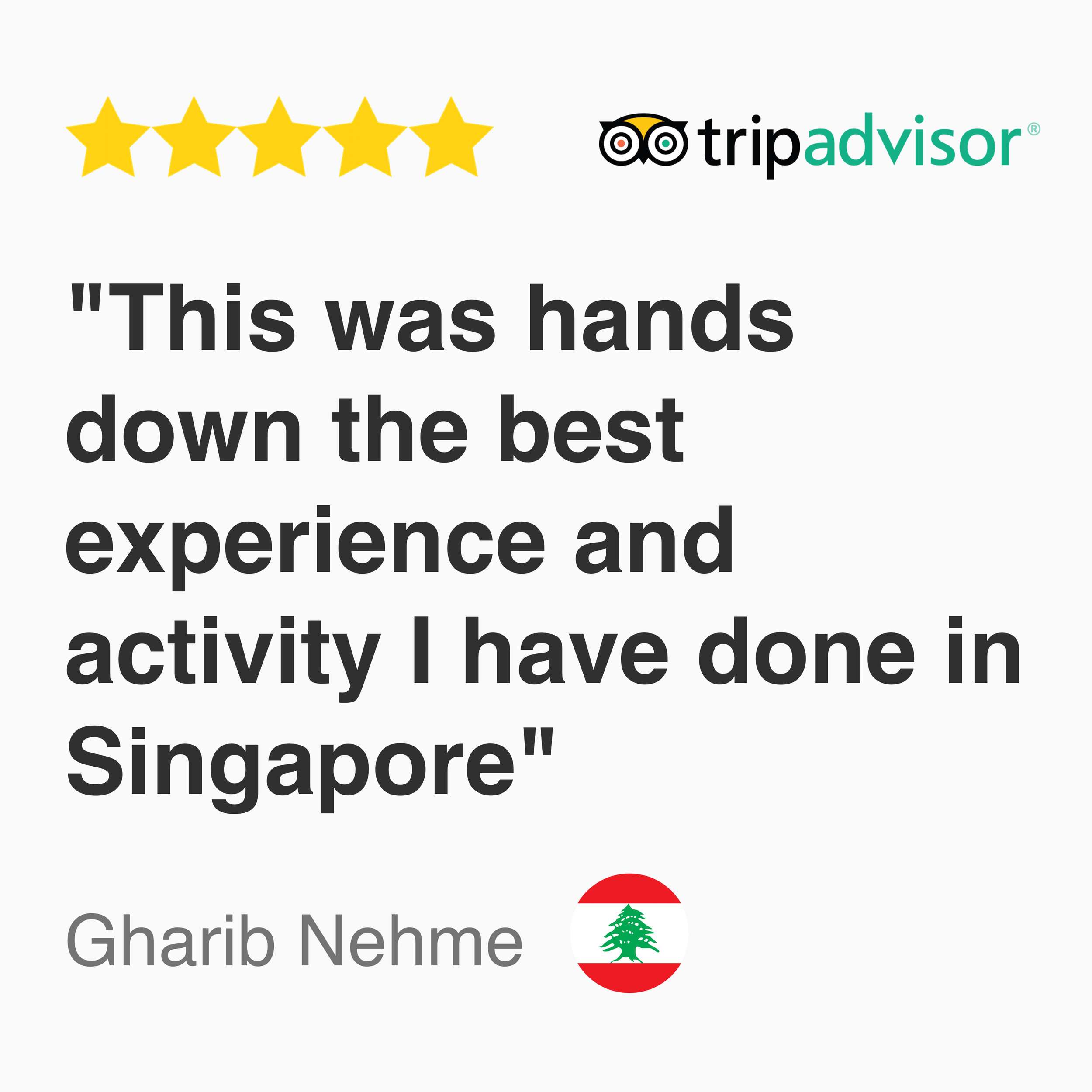 5 Star Tripadvisor Review for Kayak fishing Singapore: This was hands down the best experience and activity I have done in Singapore