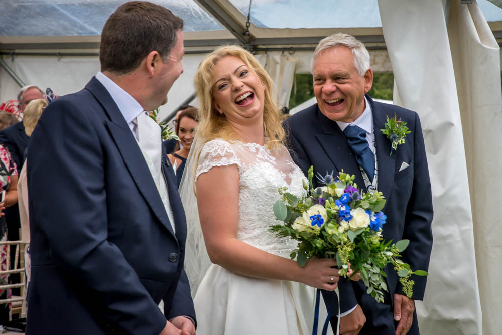 Wedding in a marquee, Rowardennan