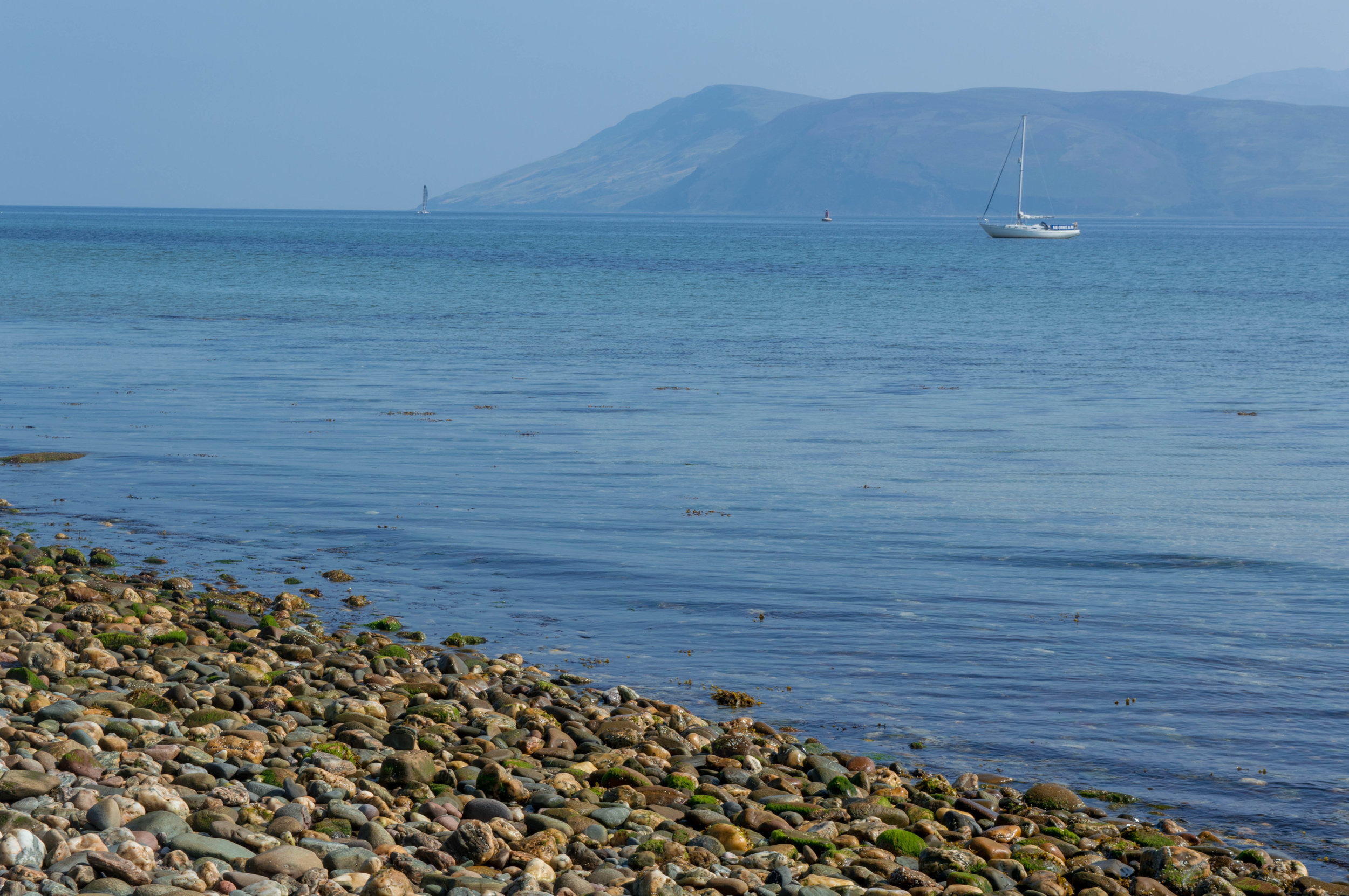 Views to Arran from Skipness Beach