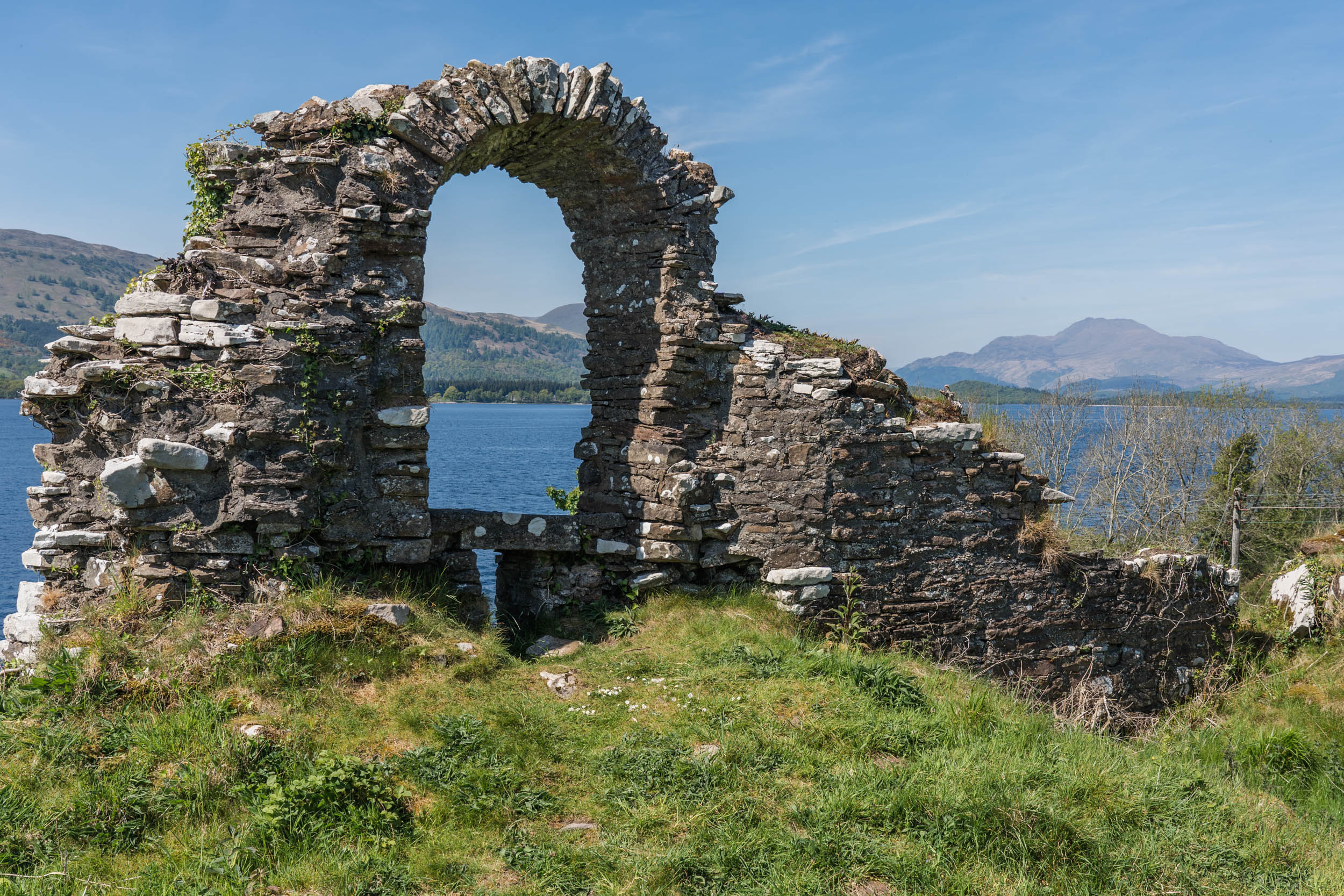 Ruined castle, Inchmurrin Island