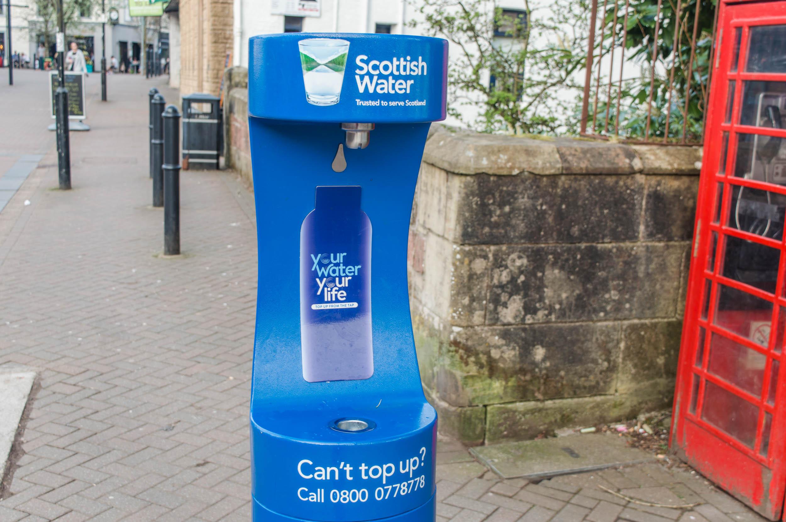 Water Dispenser, start of West Highland Way, Milngavie