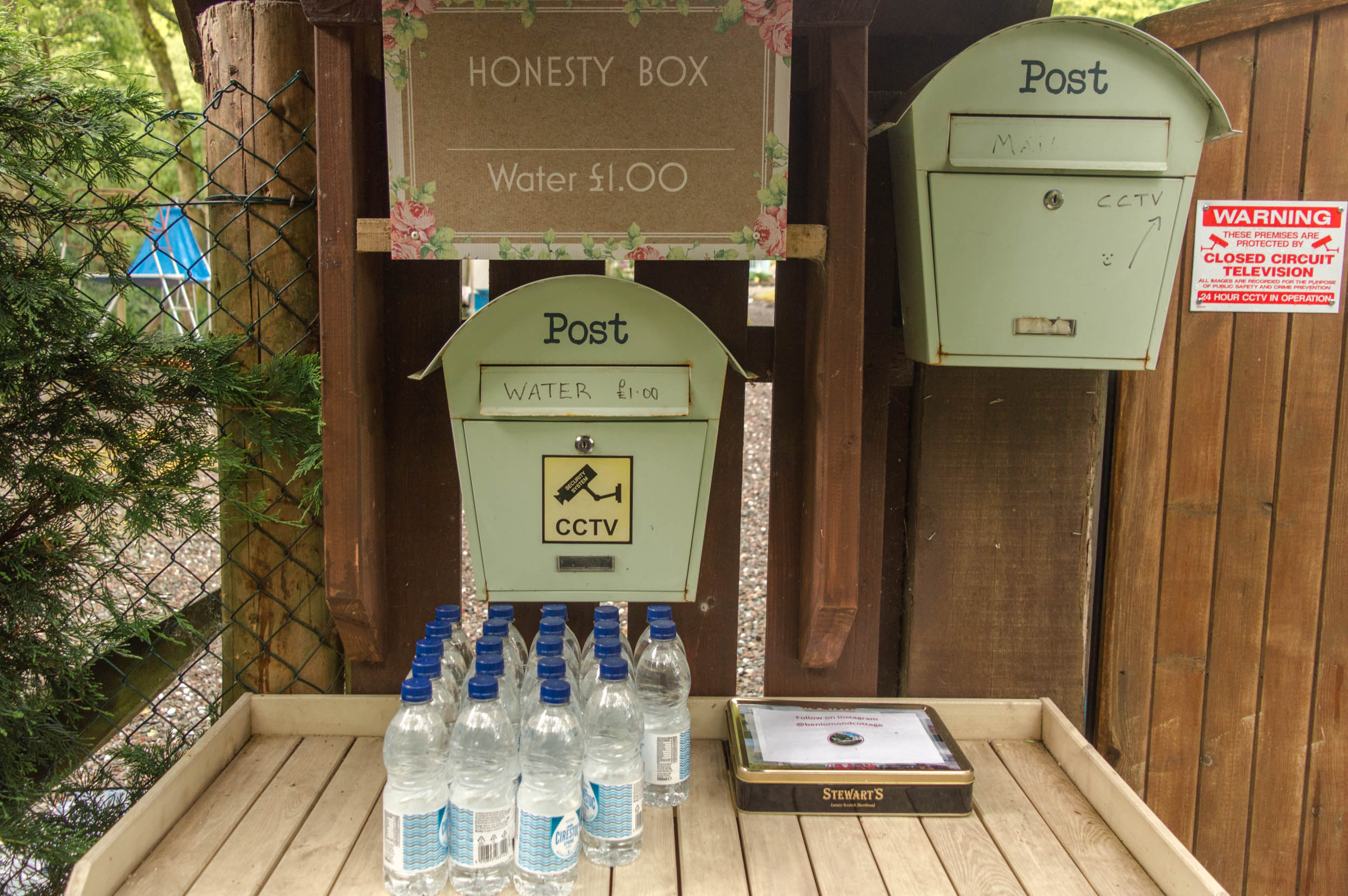 Honesty Box, Water at Rowardennan