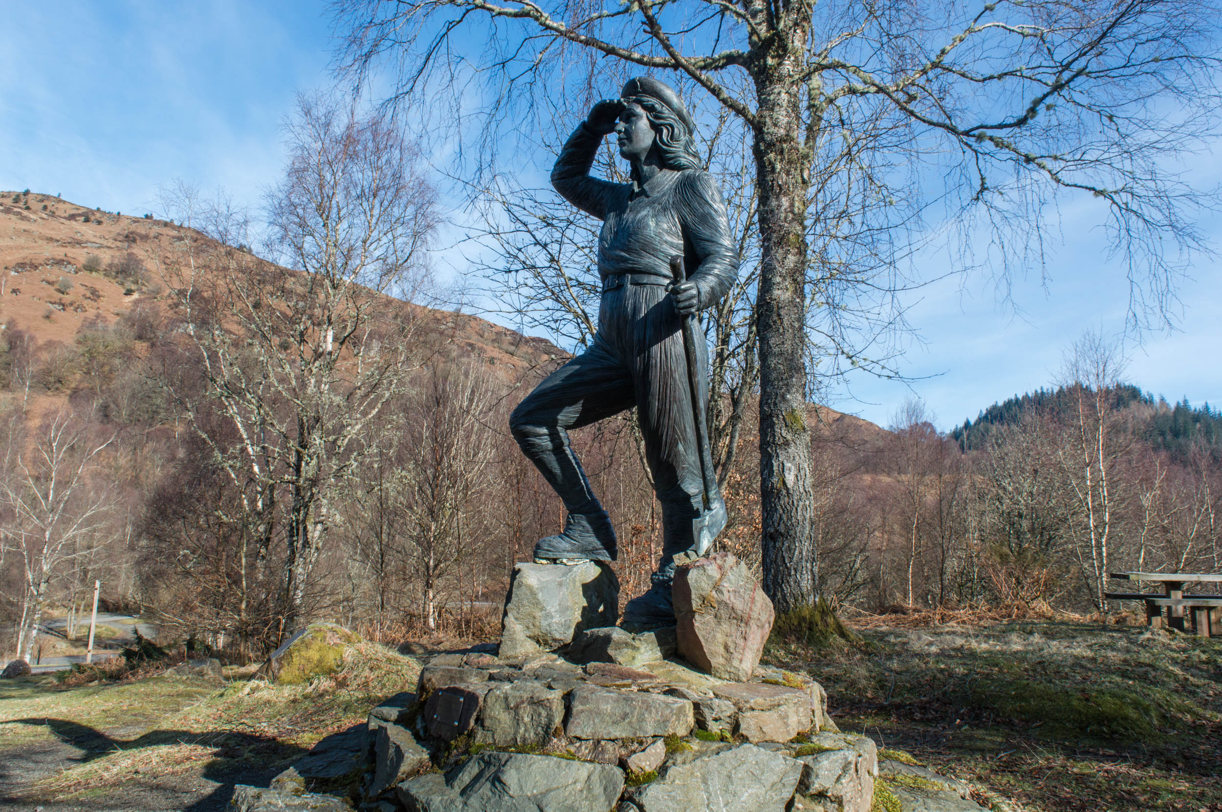 Timber Jill Statue, Aberfoyle