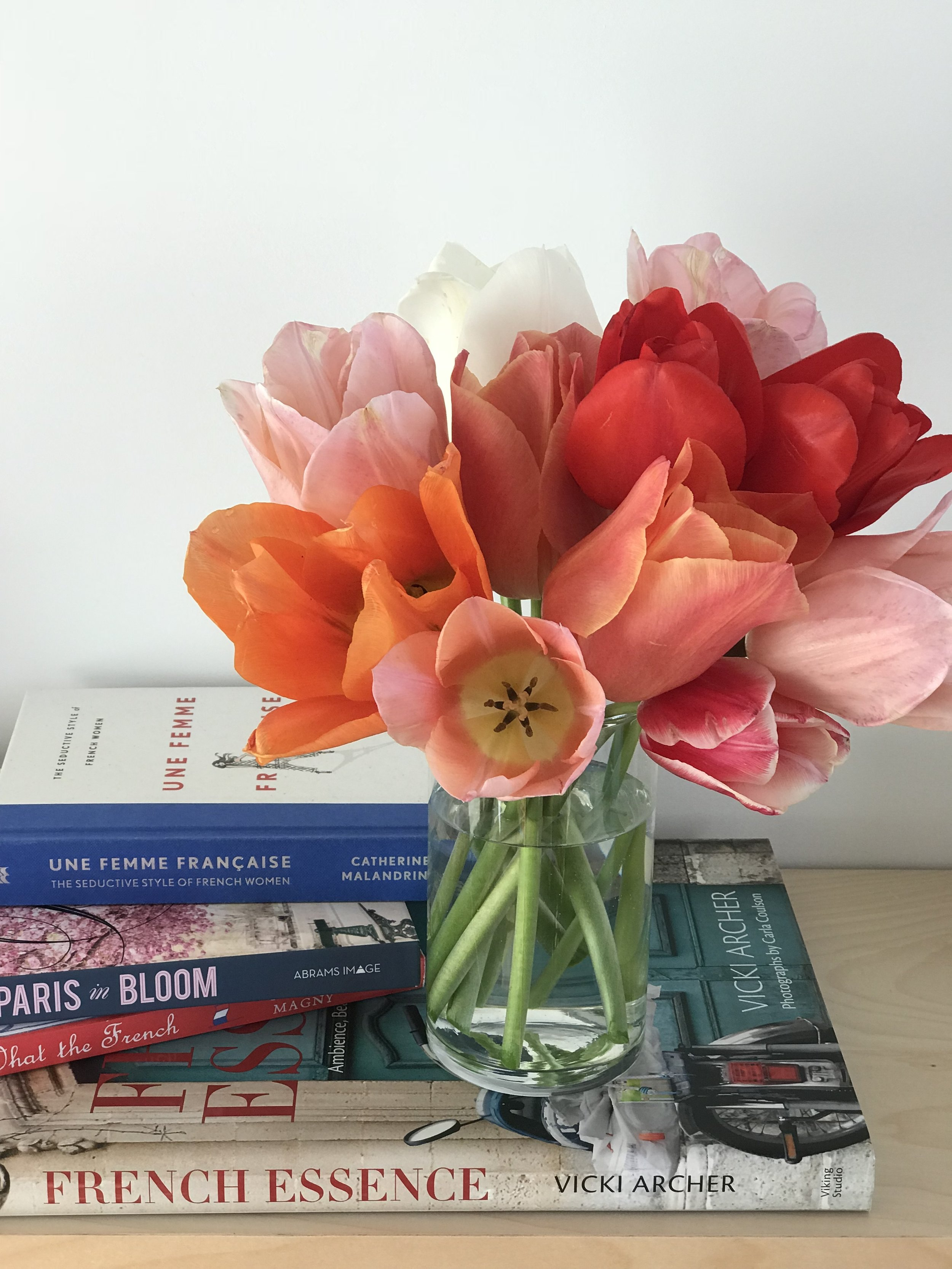Stolen tulips from a french public garden ... shhh!