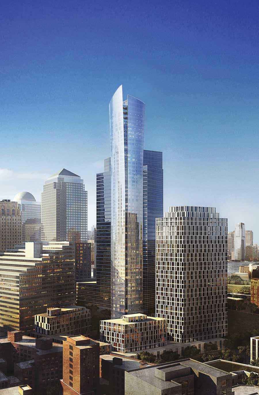 Dans Lower Manhattan, le One eleven Murray de KPF n'accueille que du résidentiel. Cette nouvelle tour a l'allure d'un parchemin dressé.
