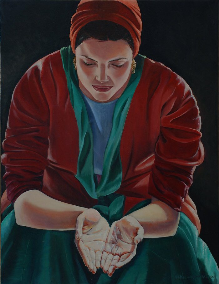 Maya, 2001, Oil on canvas, 86 x 66 cm