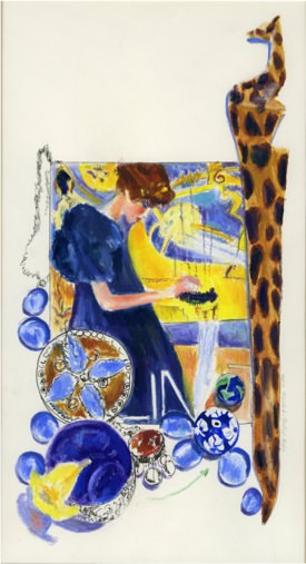 Echoing Klimt (2), 1991, Mixed media on paper, 42 x 35.5 cm