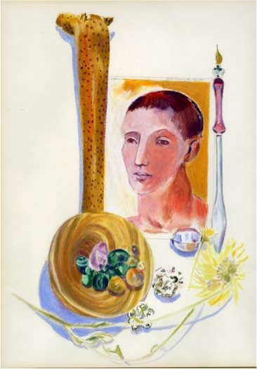Echoing Picasso, 1991, Mixed media on paper, 42.5 x 35.5 cm