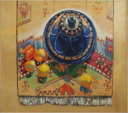 Tunisia's crops, 1998 Oil on canvas, 131 x 149 cm