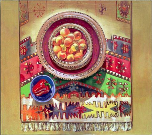 Tunisia's crops (2), 1998, Oil on canvas, 31 x 149 cm