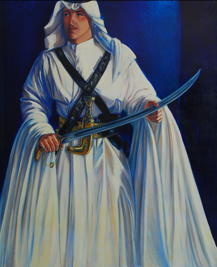 Youth of Najd, 1991, Oil on canvas, 204 x 168 cm
