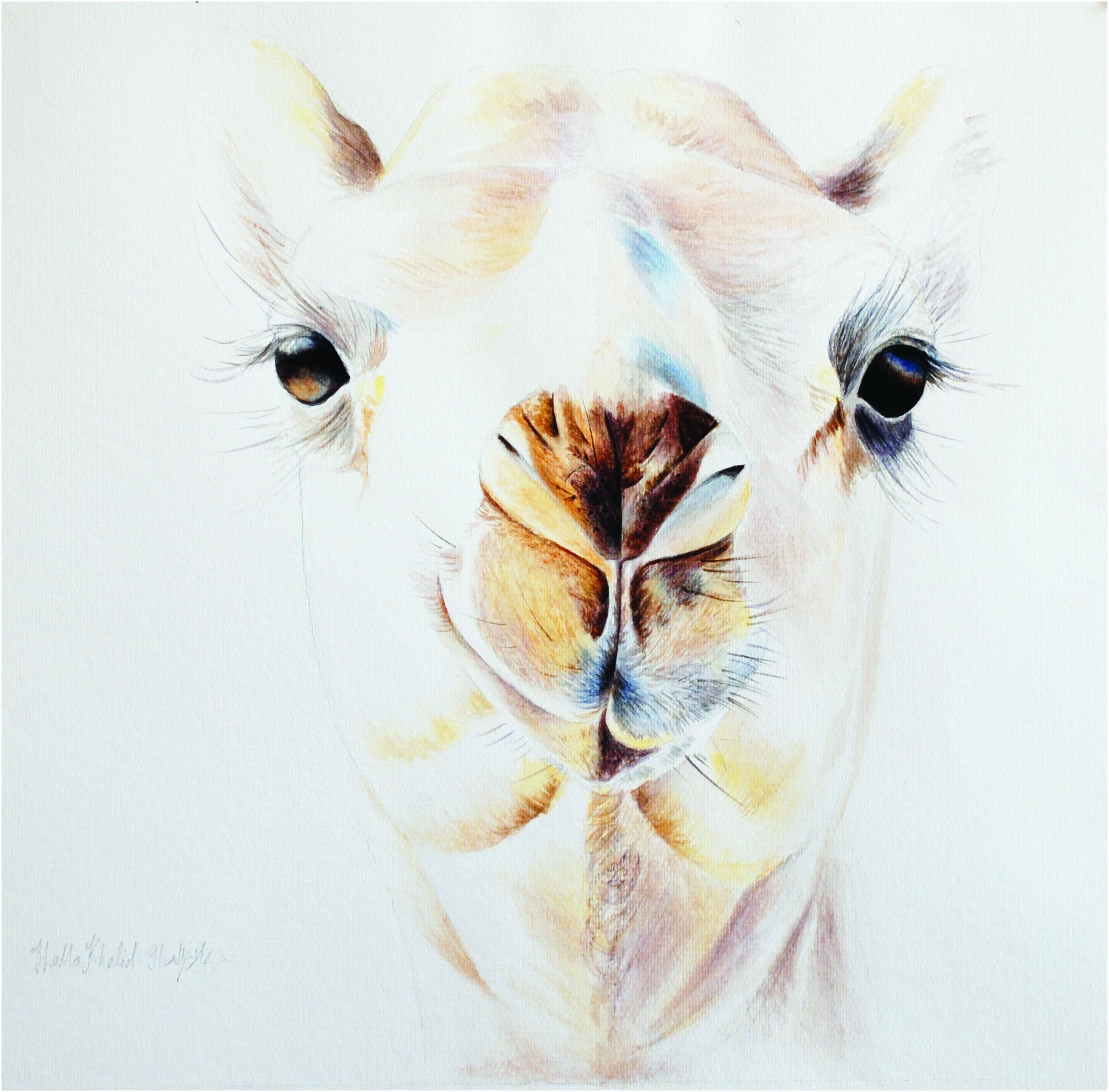 Shagrah, 1991, Watercolour on paper, 43.5 x 46.5 cm