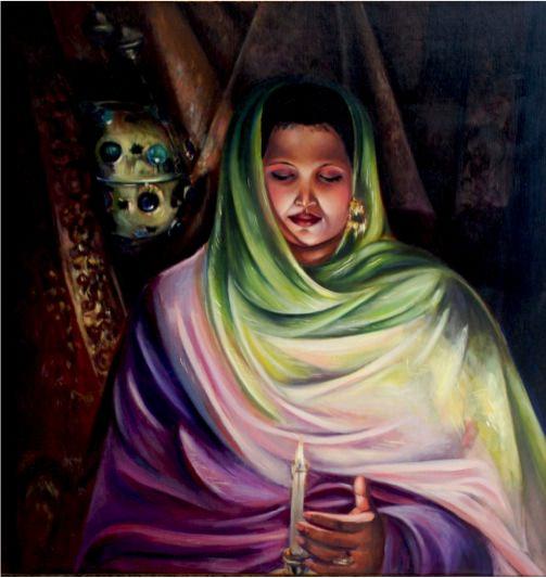Safa, 1991, Oil on canvas, 94 x 86 cm