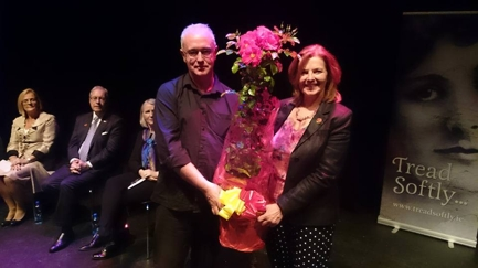 Joseph O'Connor - Roses were also presented to the novelist Joseph O'Connor when he opened the 2015 Yeats Summer School, and to Yeats' granddaughter, Caitriona Yeats.