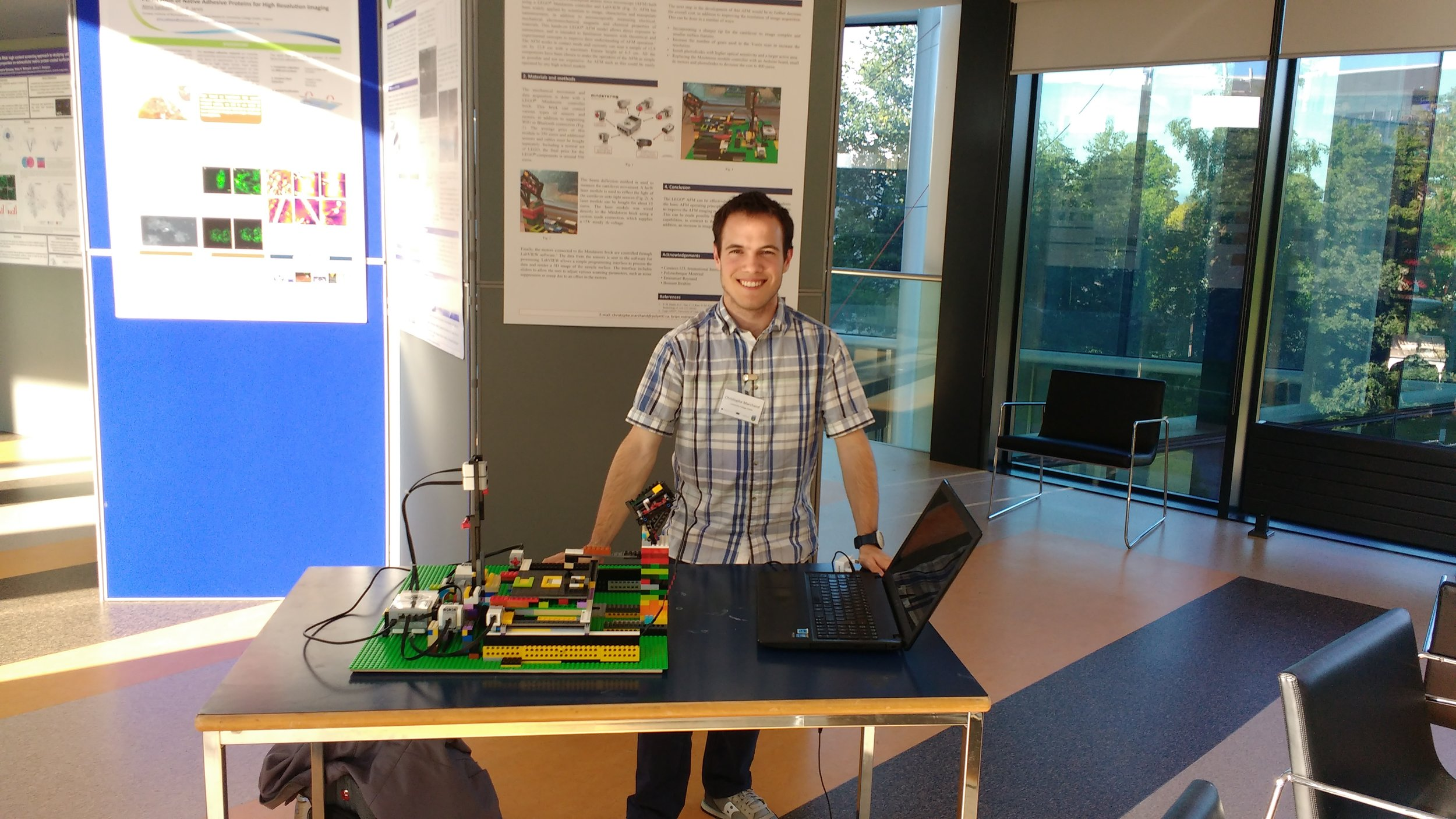 Christophe Marchand and his LEGO AFM