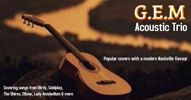 G.E.M. Live Here 9th August from 9pm - We are delighted to announce that G.E.M are returning to Galapagos restaurant with a great mix of popular covers with their own Nashville spin. Book your table now! #tunbridgewells #cousleywoodcomunity #wadhurstvillage #mojorunning #ukrestaurant #muddystilettos #sevenoaksladiesjoggers #rosemaryshrager
