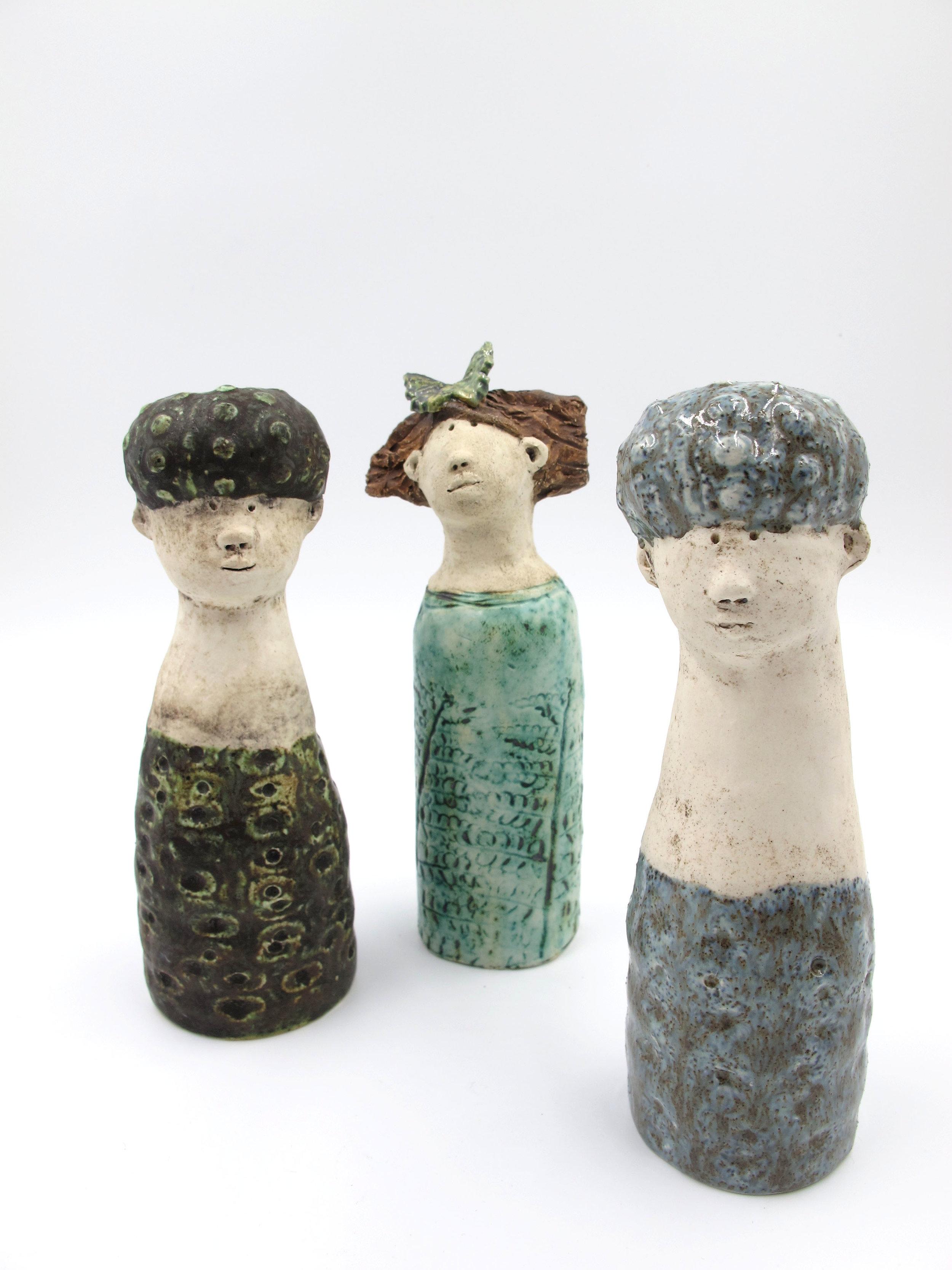 Handmade ceramic figures by Victoria Atkinson