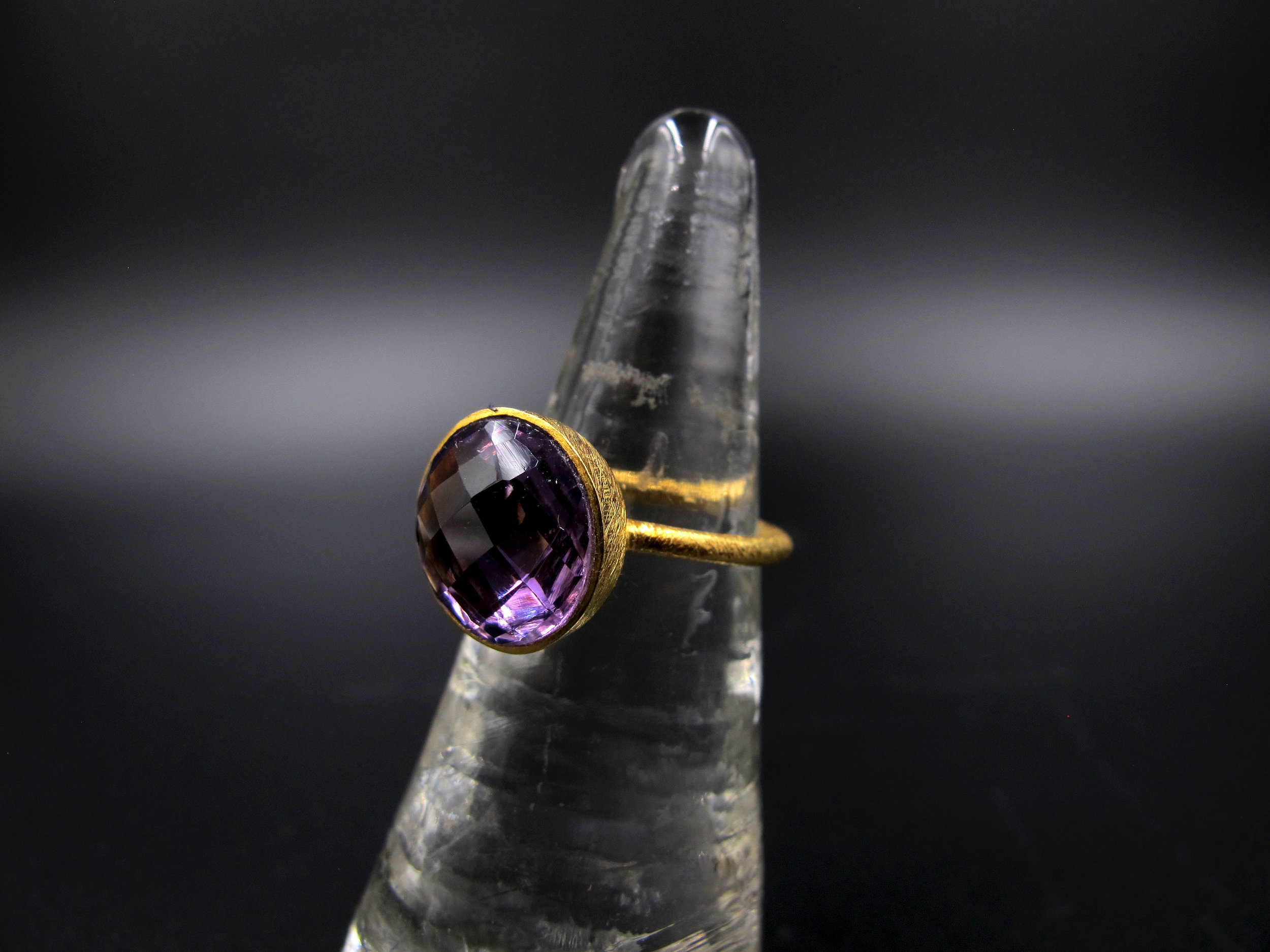 Amethyst stone ring from Rogers and Rogers