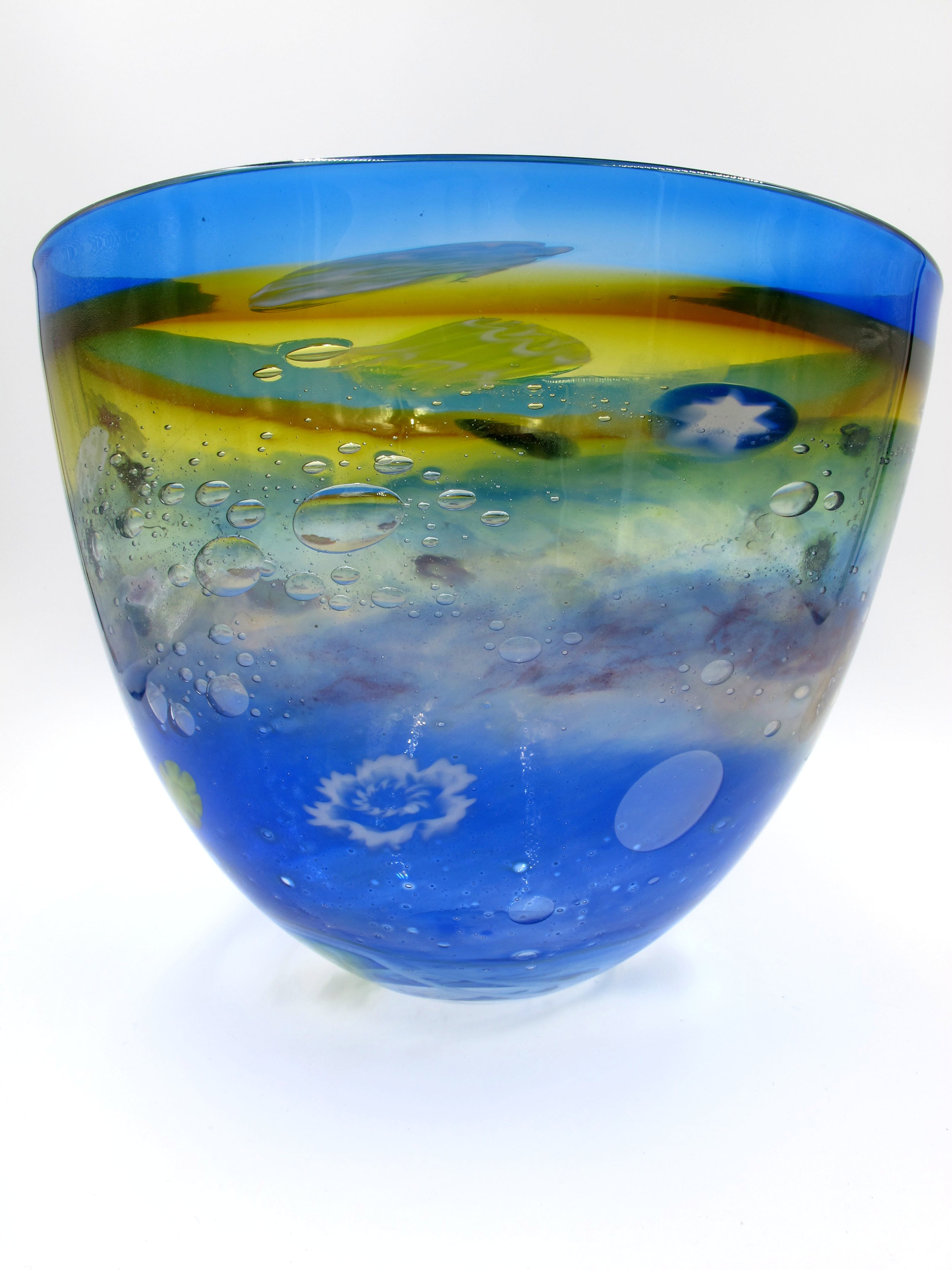 Handblown glass from bowl