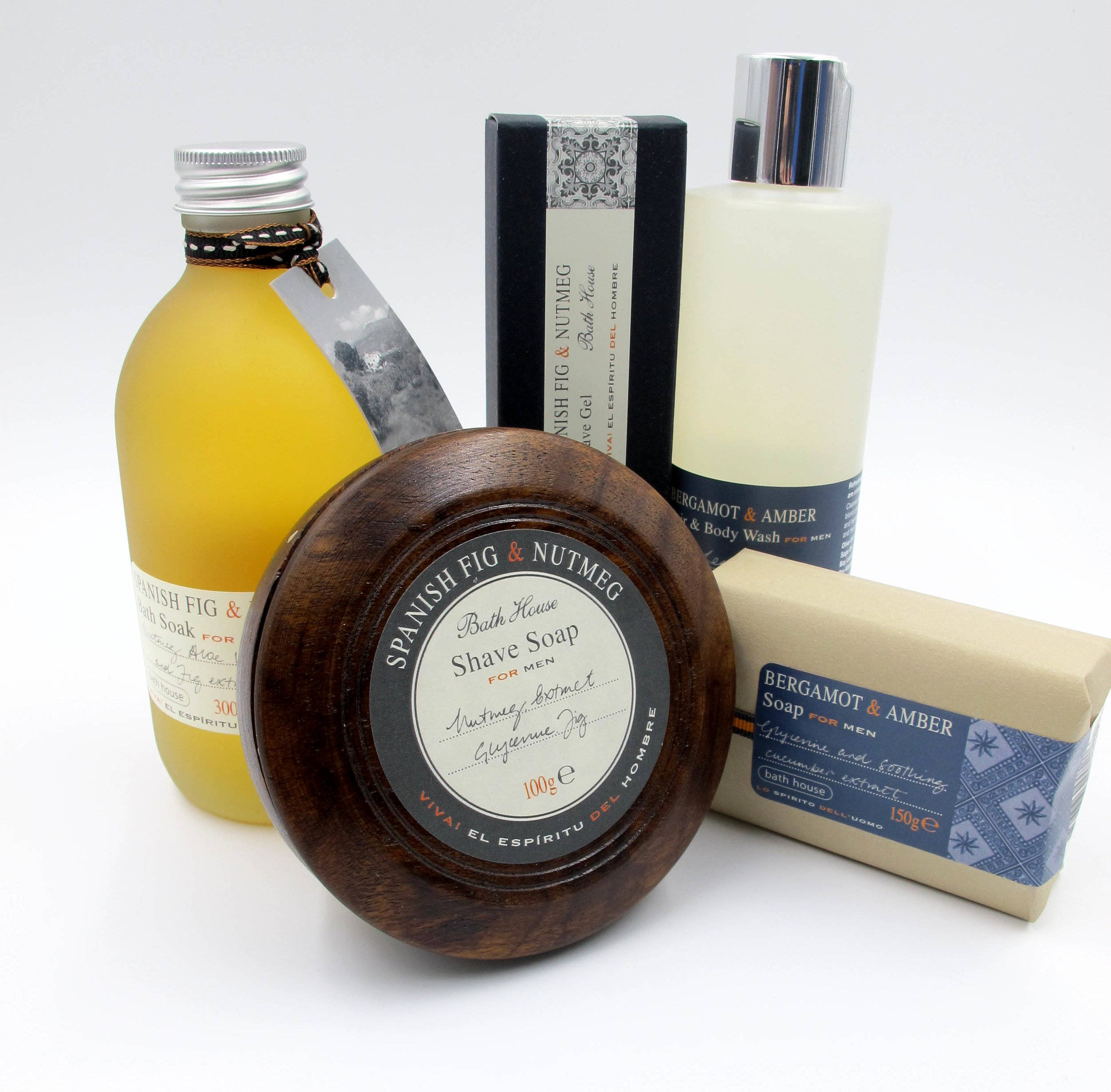 Luxury bath products for men, by Bath House