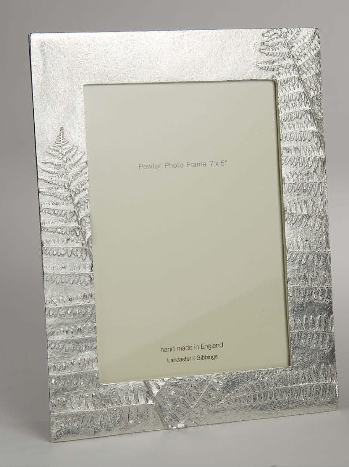 Lancaster and Gibbings Handmade Pewter photo frames