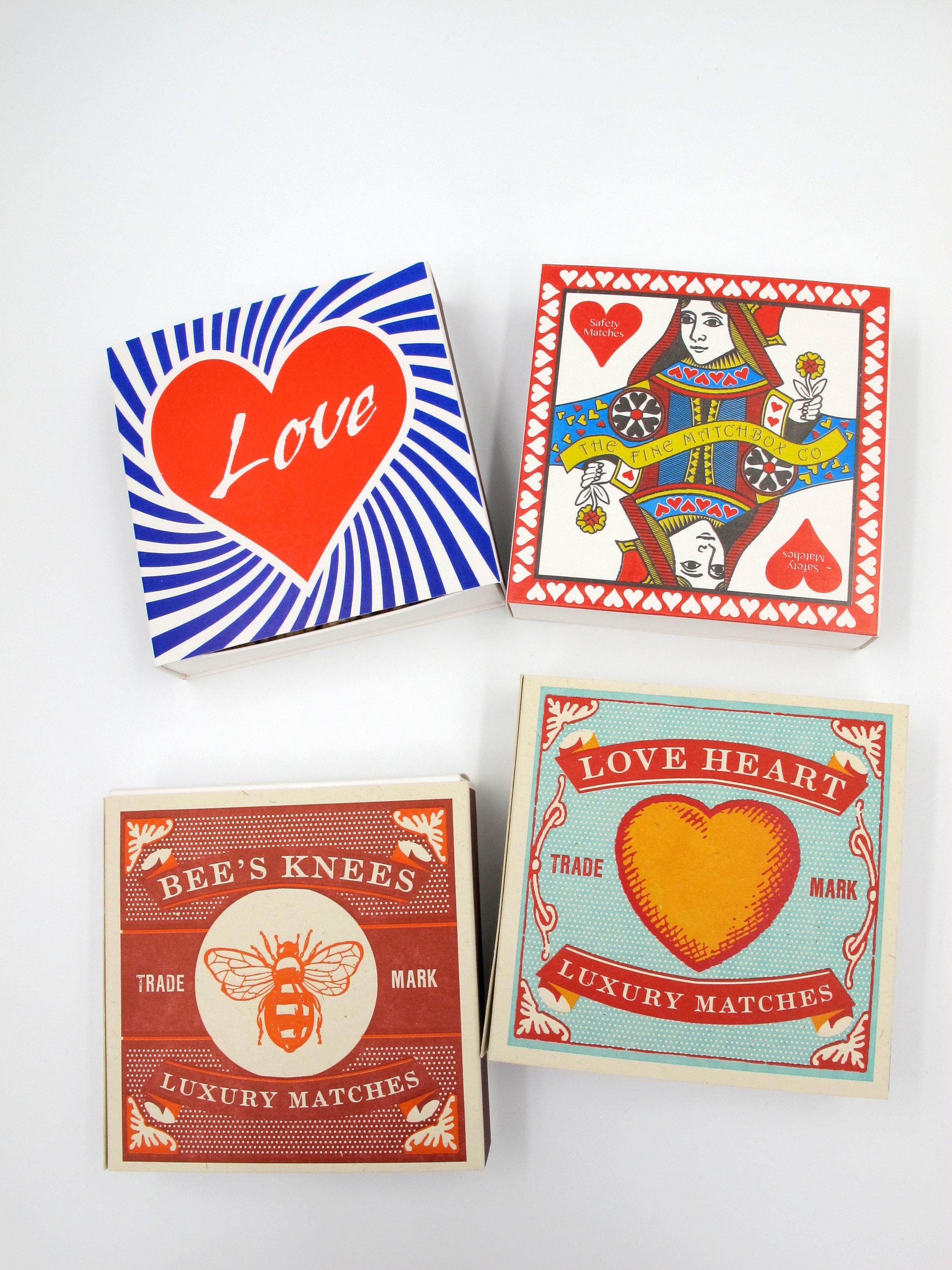 Lino Printed match boxes