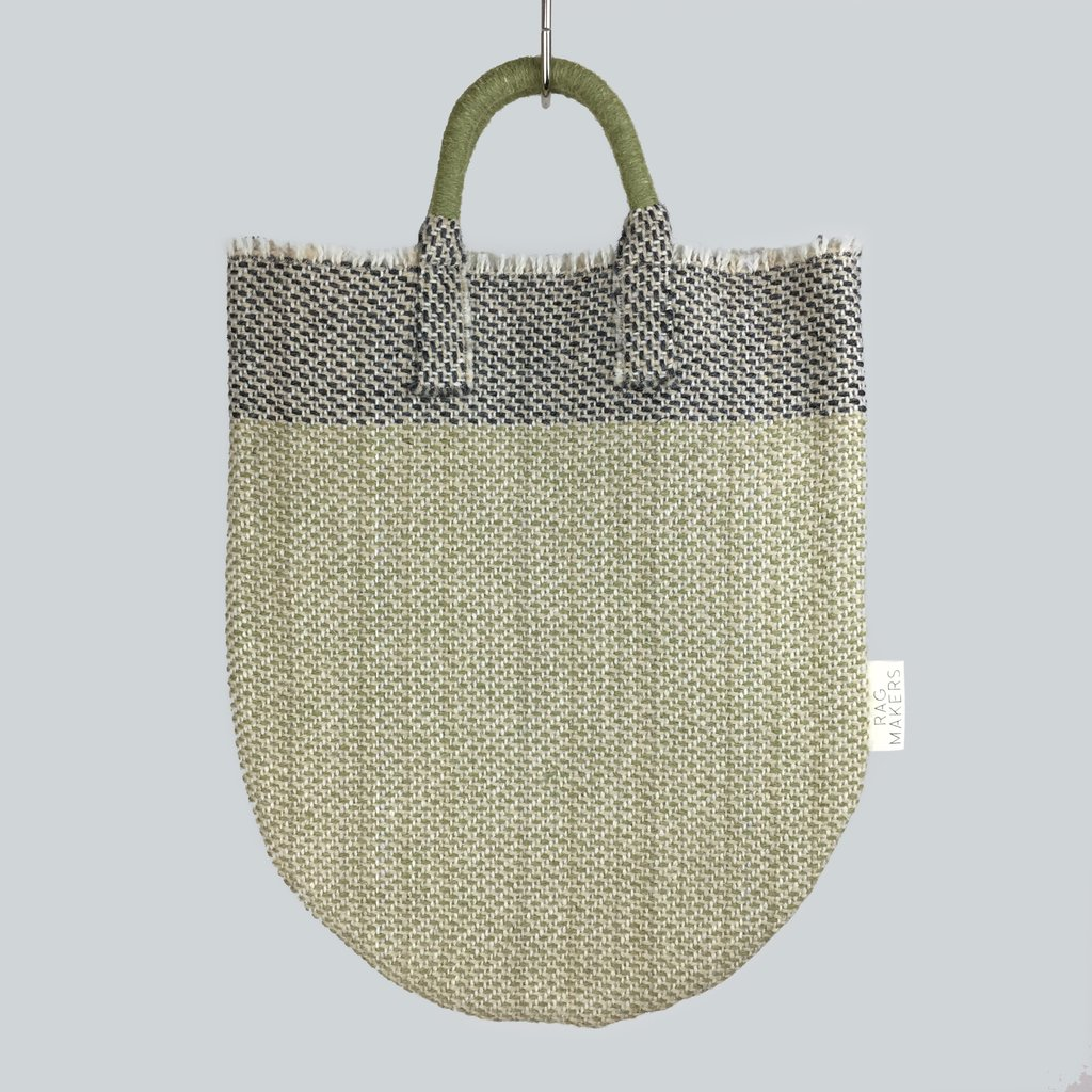 Handmade and woven in Yorkshire. Bags by Ragmakers.