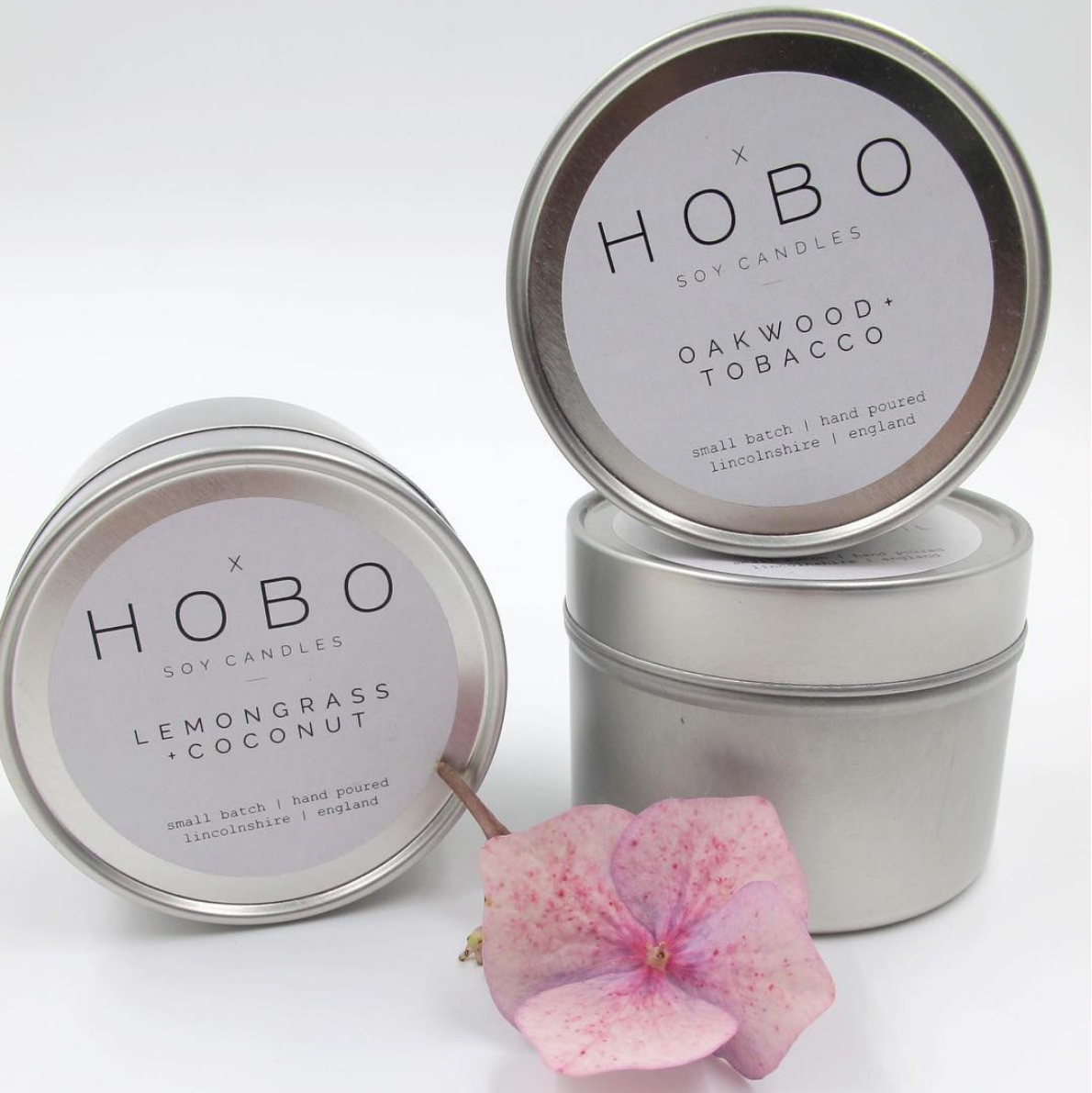 Natural Soy candles handmade in small batches in Lincolnshire by Hobo Candles