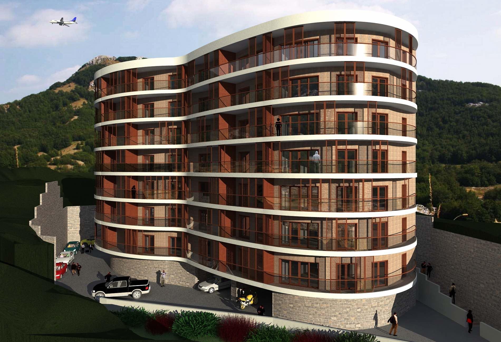 ДОМ ANATOLIA-1 - Это уникальное округлое здание стало реальностью, благодаря смелому архитектурному решению с потрясающим эффектом, состоящим в раскрытии панорамного вида на море и горы.